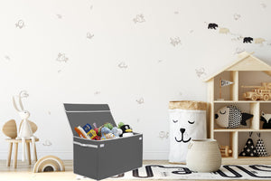 Load image into Gallery viewer, Large Collapsible Toy Box Ivory - Personalized - Great Useful Stuff