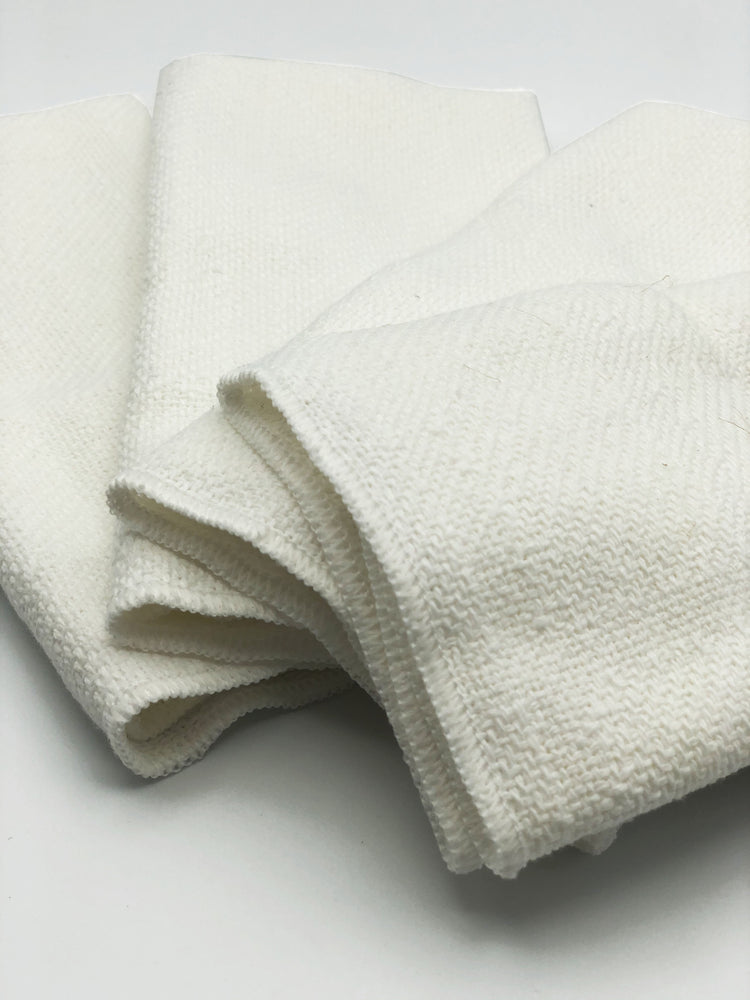 Made in the USA 100% Cotton Table Napkins - Set of 4 American Made - American Home USA - White (Set of 4)