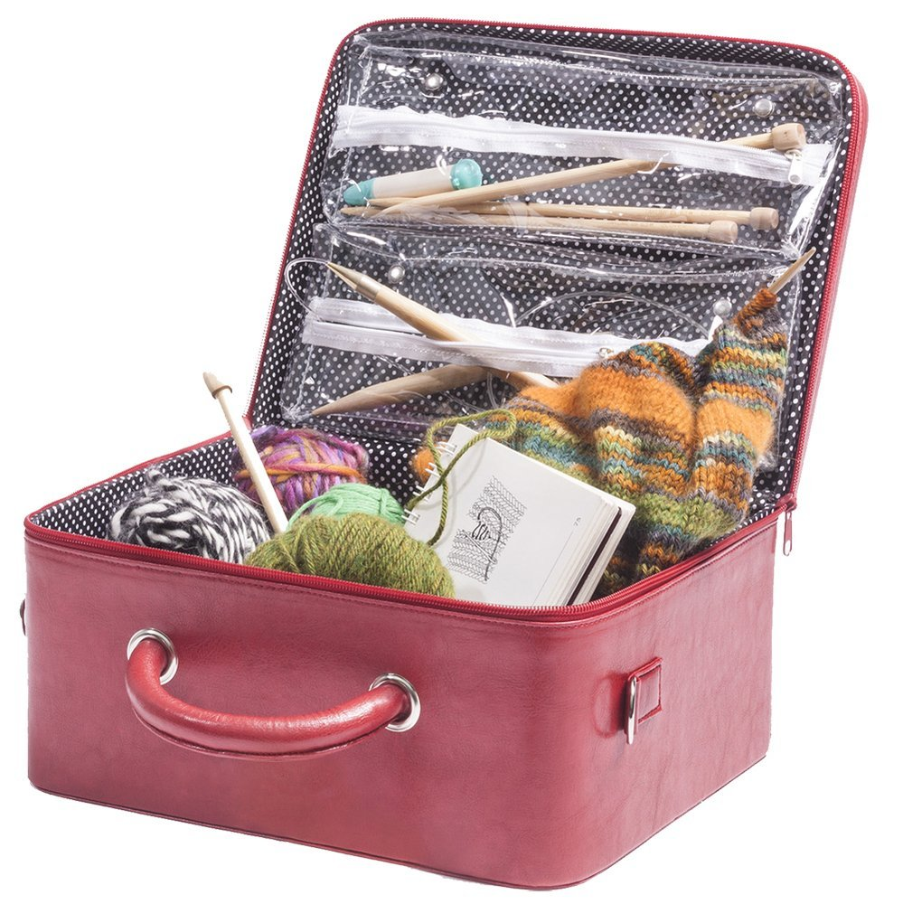 Knitting Case with Shoulder Strap & Handle - Great Useful Stuff