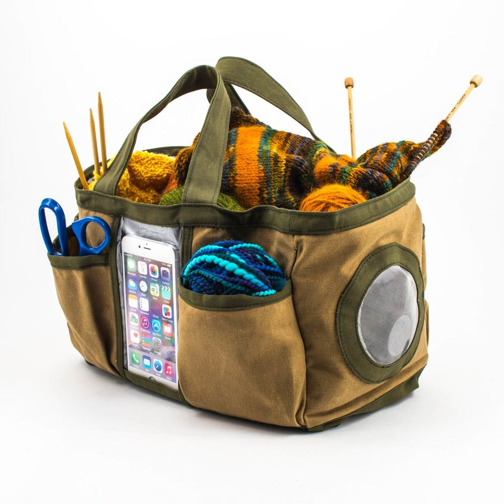 Craft Tote with Built-In Bluetooth Speaker