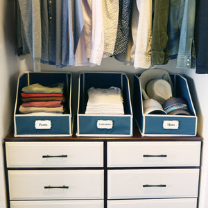 Sweater Bins for Organized Closet Storage - Orion/Ecru