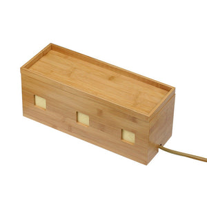 Large Cable Cubby -  Bamboo - Great Useful Stuff