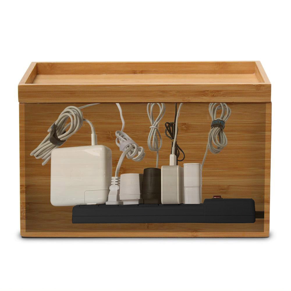 Medium Cable Cubby - Bamboo - Great Useful Stuff