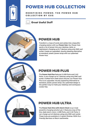 Power Hub Collection: The Original Power Hub, The Power Hub Plus, and The Power Hub Ultra