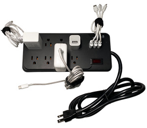 GUS Essential Extra Large 8 A/C + 3 USB Power Strip