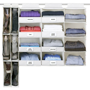 4-Shelf Hanging Closet Organizer with Front Label Flap - Great Useful Stuff