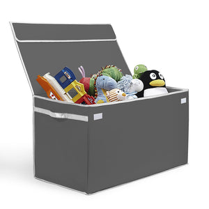 Load image into Gallery viewer, Large Collapsible Toy Box - Gray - Great Useful Stuff