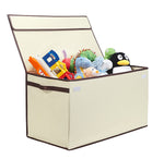 Large Collapsible Toy Box - Ivory - Great Useful Stuff