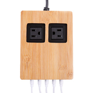 Power Hub - With Permanently Attached Short Cords - Great Useful Stuff