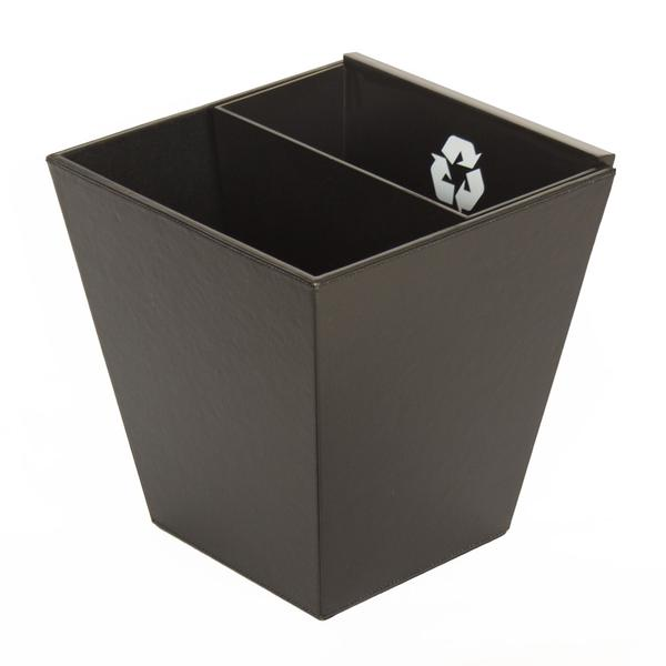 Divided Recycle Bin with MDF inner bin - Bamboo or Black