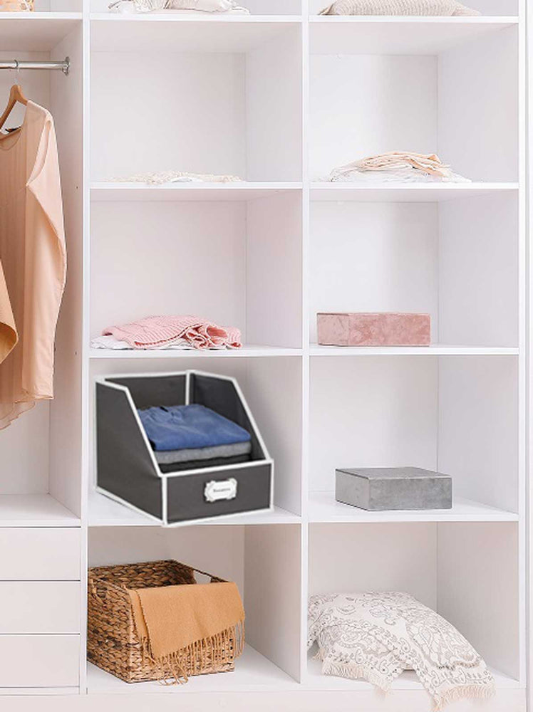 Collapsible Sweater Bins for Organized Closet Storage - Gray - Great Useful Stuff