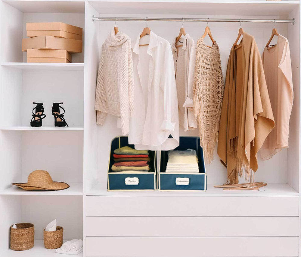 Load image into Gallery viewer, Collapsible Sweater Bins for Organized Closet Storage - Great Useful Stuff