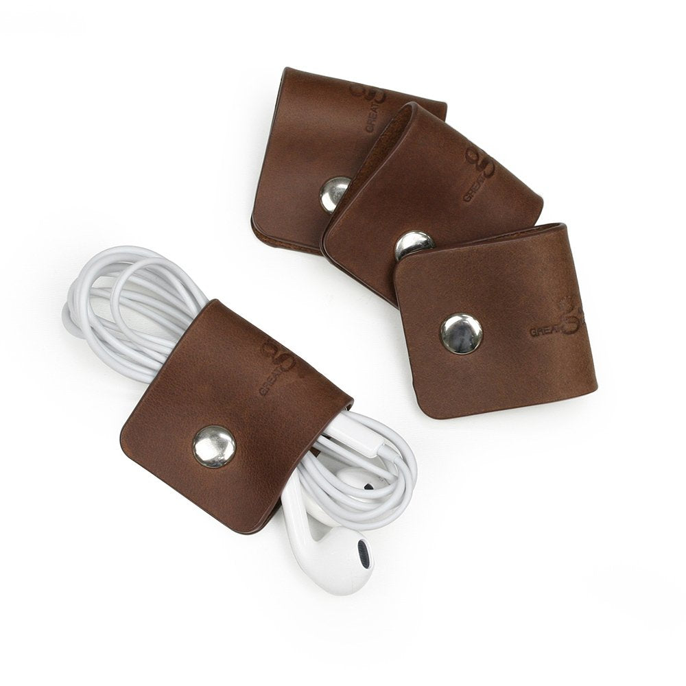Genuine Leather Cord Snaps - Set of 4