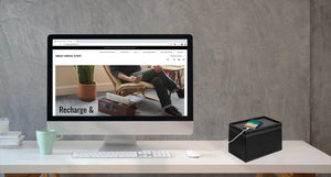 Load image into Gallery viewer, Medium Cable Cubby - Black Leatherette - Great Useful Stuff