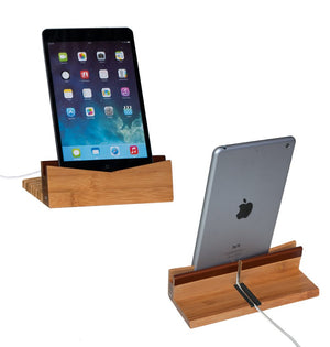 Bamboo Tablet Dock (iPad Stand & Holder) - Personalized - Great Useful Stuff