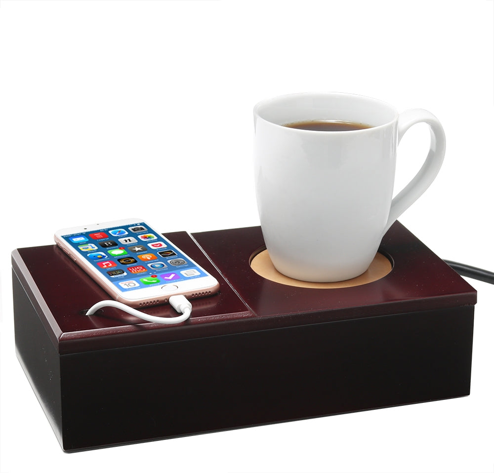 Cell Phone and Coffee Charging Cubby