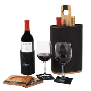 Duo Wine Carrier: Felt