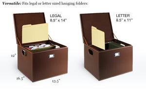 Hanging File Box - Letter or Legal Black