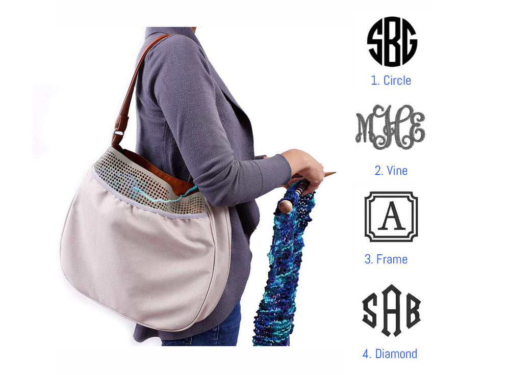 Knit Hobo Bag - Personalized
