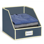 Collapsible Sweater Bins for Organized Closet Storage - Blue - Great Useful Stuff