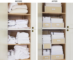 Linen Closet Storage Collection, Brushed Cotton