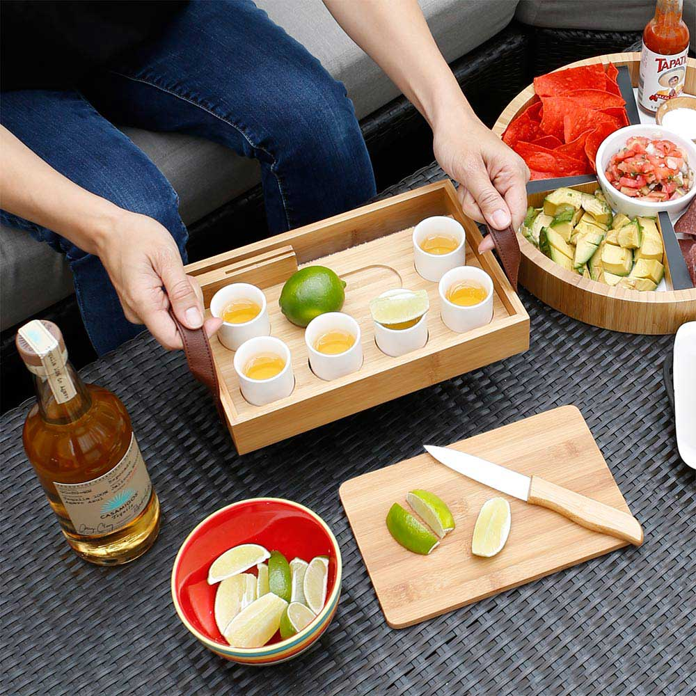 tequila tasting party for 6 bamboo cutting board and knife included
