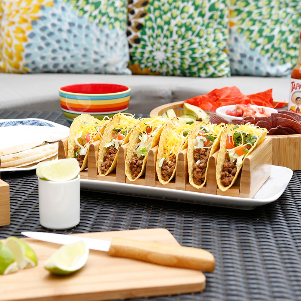 Load image into Gallery viewer, Bamboo Taco Tray - Great Useful Stuff