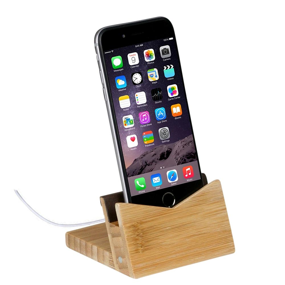 Bamboo Phone Dock