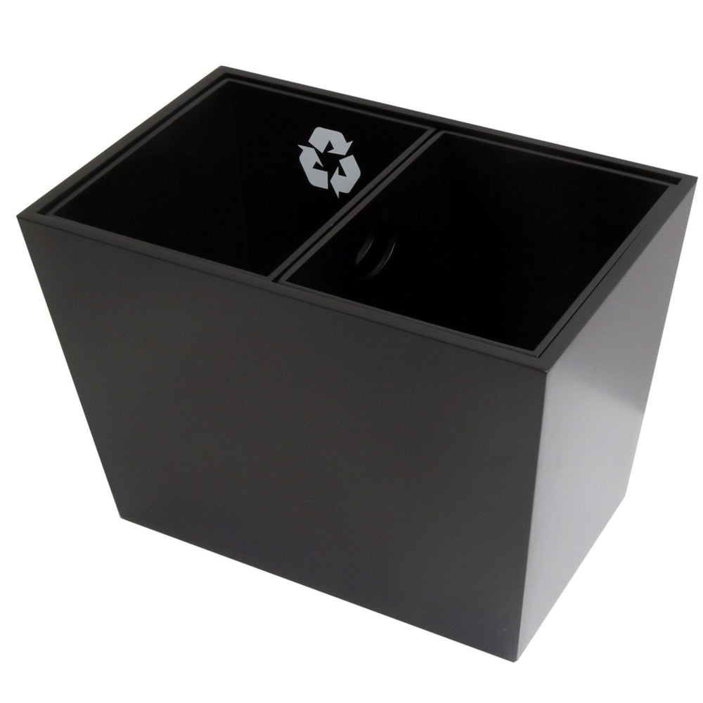 Dual Double Size Divided Recycle Bin with Removable Inner Bins