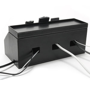 Remote Control and Cord Hideaway Station (Black)