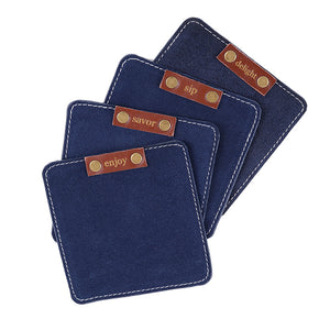 Leather Suede Coasters (Set of 4) - Great Useful Stuff