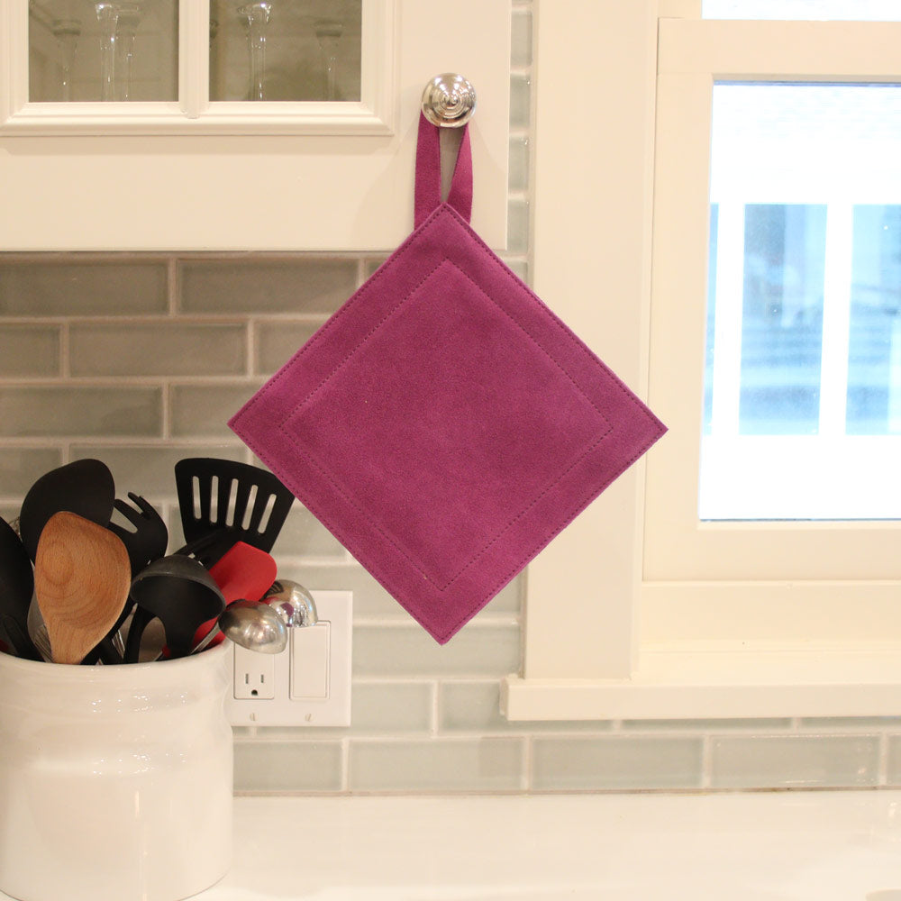 Suede Handle Holders and Trivets/Potholders - Great Useful Stuff