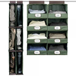 4-Shelf Closet Organizer with Front Label Flap