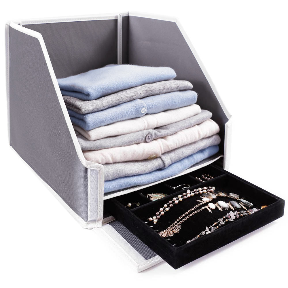 Sweater Bin with a Secret Jewelry Drawer - Great Useful Stuff
