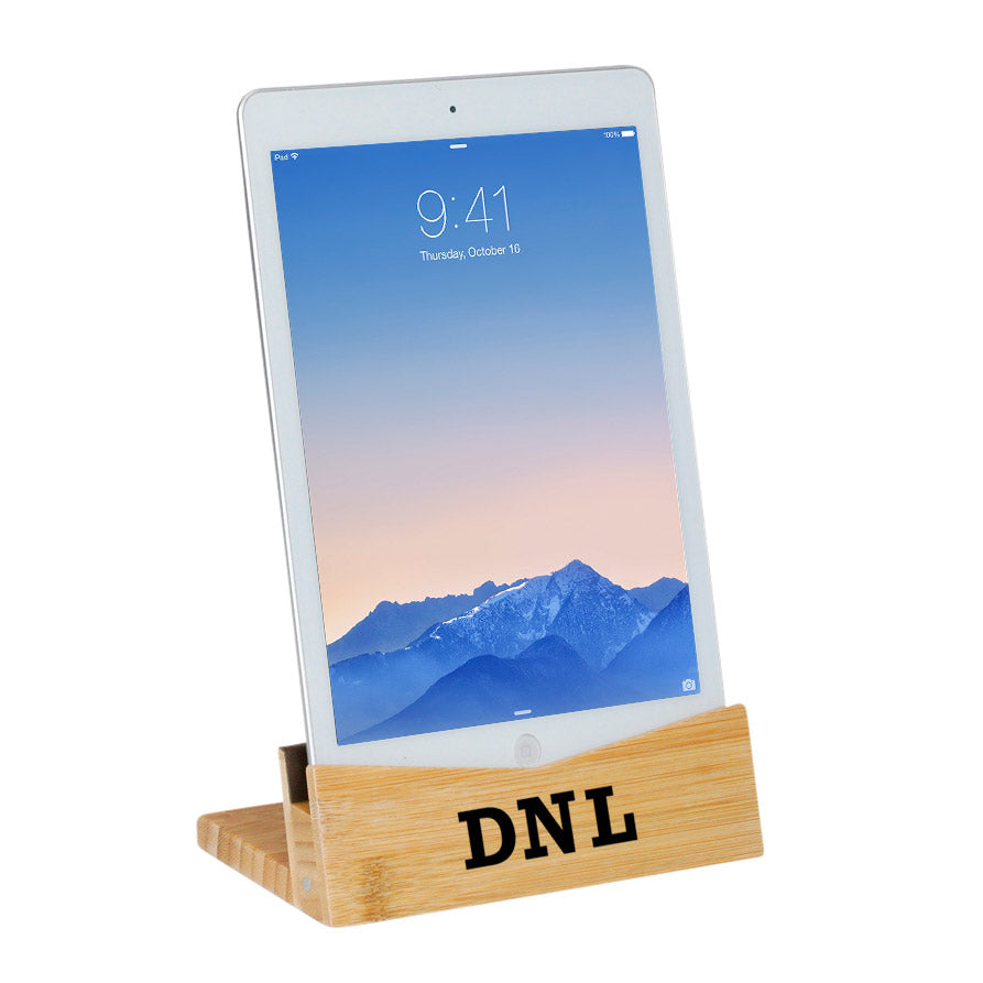 Bamboo Tablet Stand (iPad Holder) - Personalized