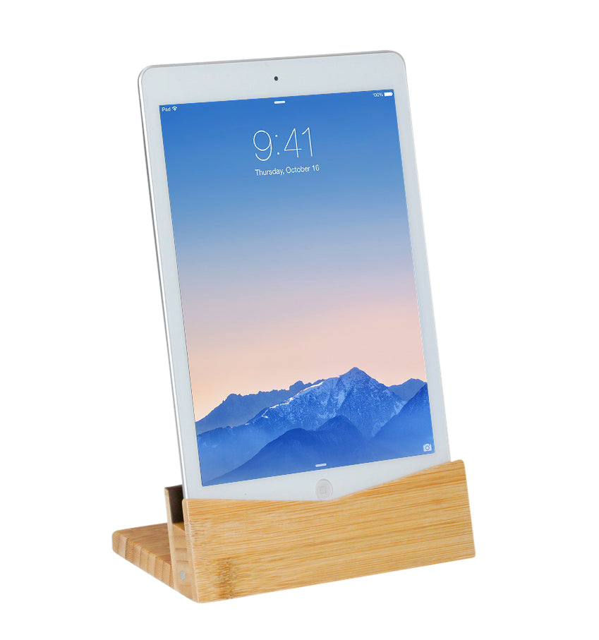 Bamboo Tablet Dock (iPad Holder)