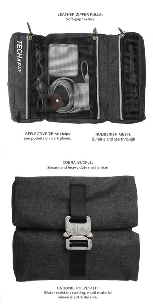 Load image into Gallery viewer, TechAway Travel Roll - Gray - Great Useful Stuff