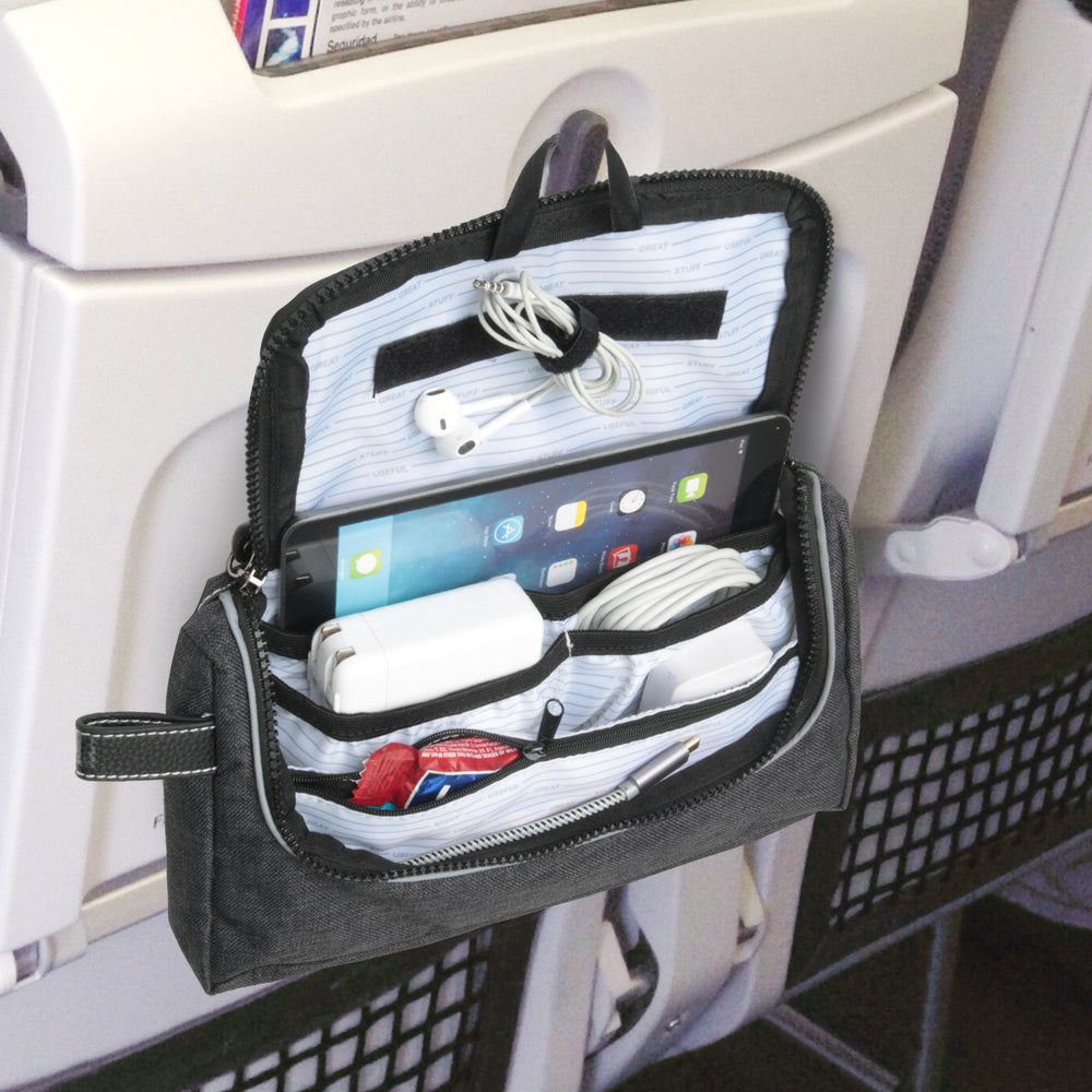 Travel Media Pouch 2.0 in-flight organizer