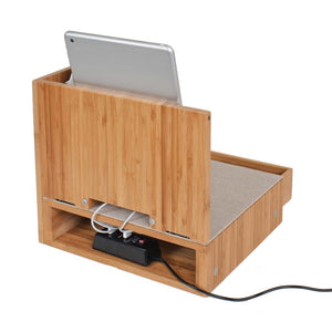 Corner Charging and Sunglass Station with Drawer