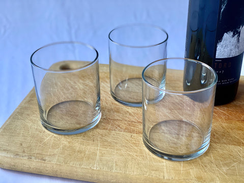 Set of 6 Vintage Glass Tumblers