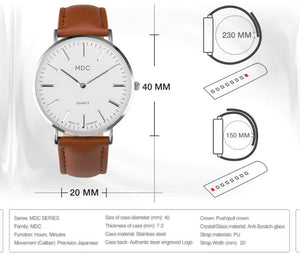 MDC Mens Minimalist Classic Watch