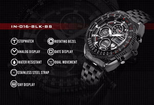 INFANTRY Military Analog Digital Mens Watch