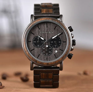 BOBO BIRD Chronograph Wooden Mens Watch