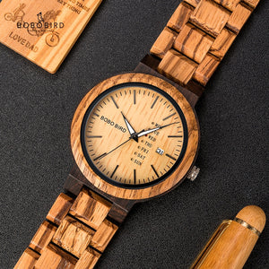 BOBO BIRD Quartz Watch with Complete Calendar