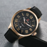 LANCARDO 2019 Men's Watch - Quartz Movement with Leather Band