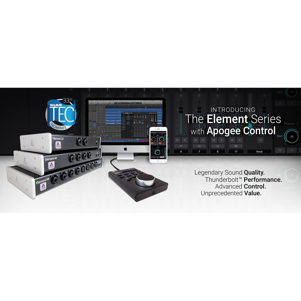 Apogee Element 88  16 IN x 16 OUT Thunderbolt Audio I/O for Mac