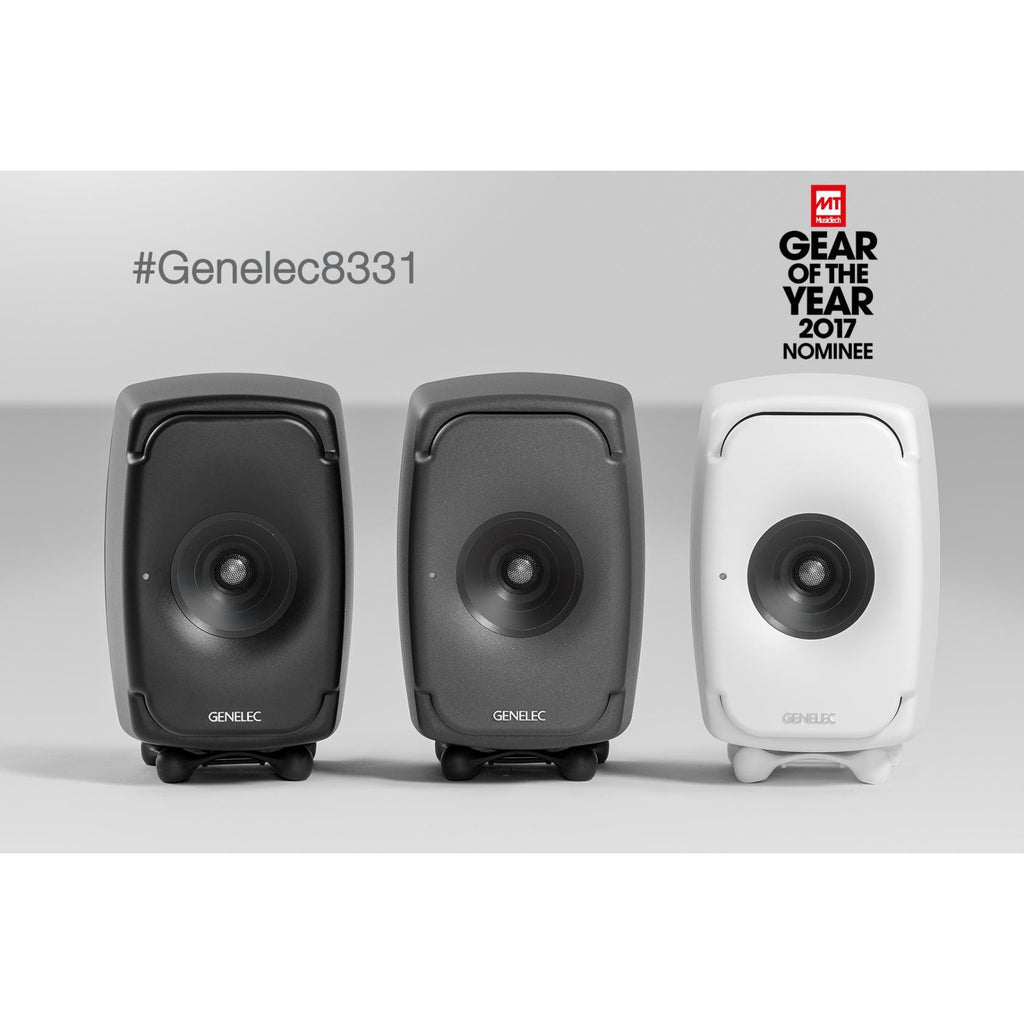 Genelec 8331APM Three-Amplified SAM Monitor System (Dark Grey) Pair with GLM