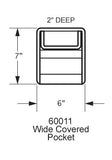 60011 Wide Covered Pocket