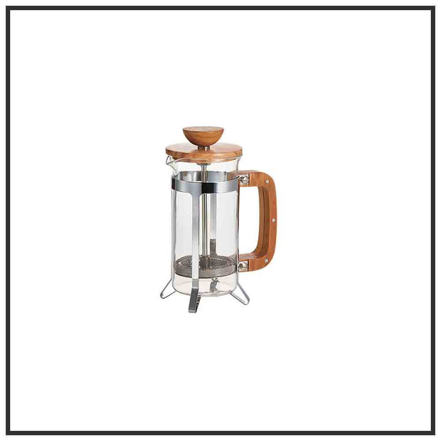 Olive wood Finish Coffee French Press