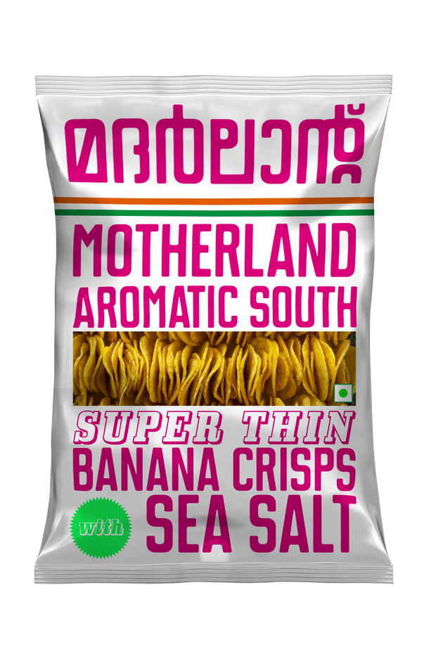 Super Thin Banana Sea Salt Chips (Pack of 3) by Motherland